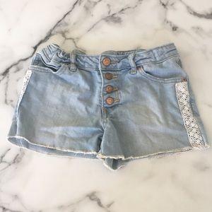 embroidery denim shorts